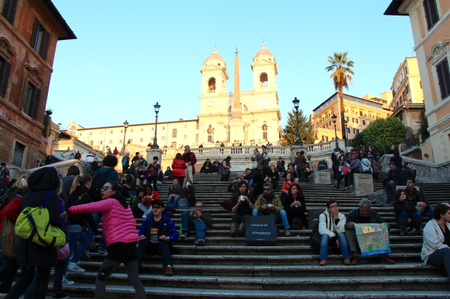 The Scalinita (the Steps) are the widest in Europe, built to link the Bourbon Spanish Embassy to the Trinità dei Monti church.