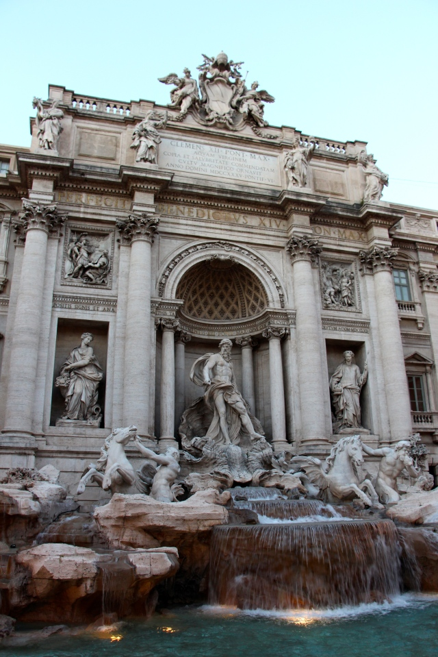 The Trevi Fountain (literally, the fountain at the 3 roads). The largest baroque fountain in Rome... and, of course, La Dolce Vita!