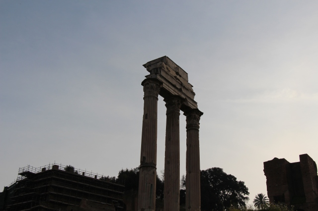 Remains of one of the buildings at the Roman Forum.