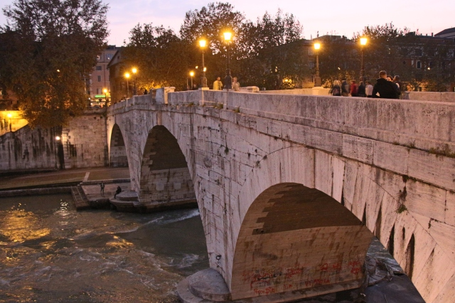 Our last night in Rome, we toured the Trastevere area and the Jewish Ghetto. This bridge took us there, but I'm going to save those pictures for another time...