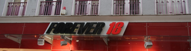 "I thought that this was hilarious... Why wait to be ""Forever 21"" when you can be ""Forever 18?!"""