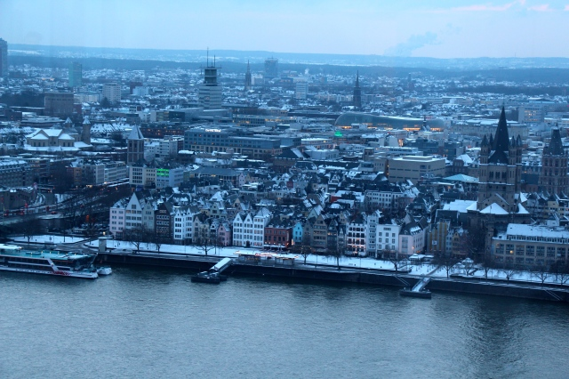We ascended to the top of the Köln Turm for views such as this.