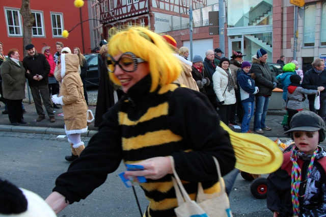 The aforementioned bumble bees! (she was handing out candy...)