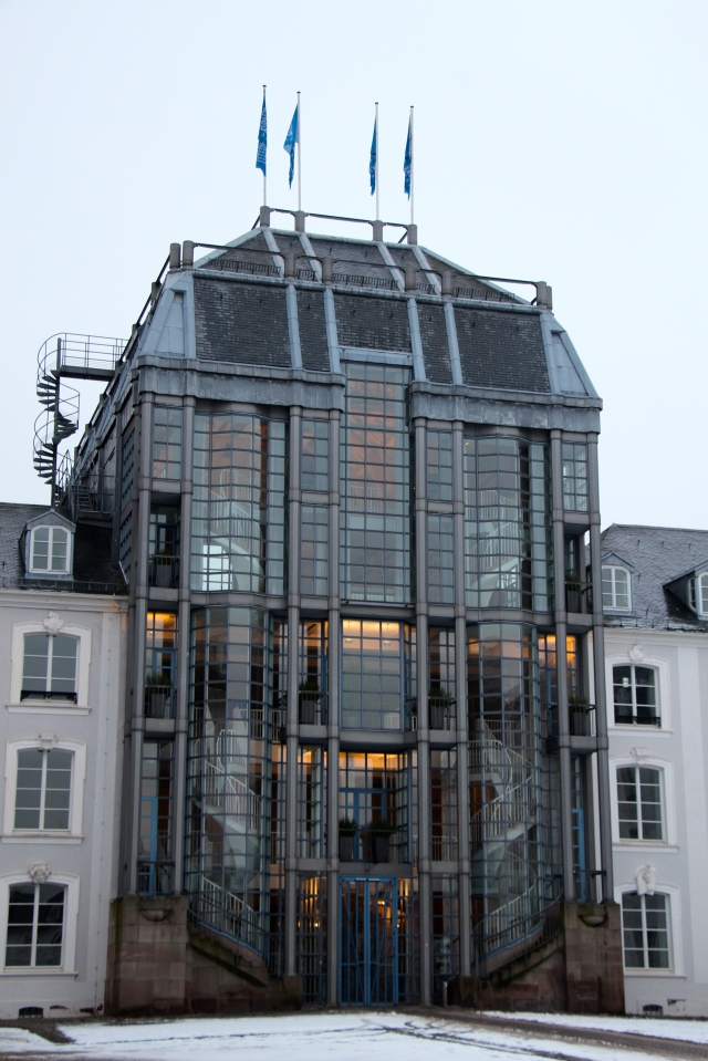 Part of the Saarbrücken castle, modernized.