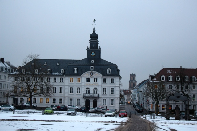 Stengel (architect) helped make Saarbrücken's Altstadt (here is the old Rathaus) look very much like the planned community it is. Fortunately, this happened after the Franco-Dutch war, which left only 8 houses standing in Saarbrücken, and after the 30 Years War, which reduced the population down to 70! You can say a lot of things about this town, but you would have to include perserverent!