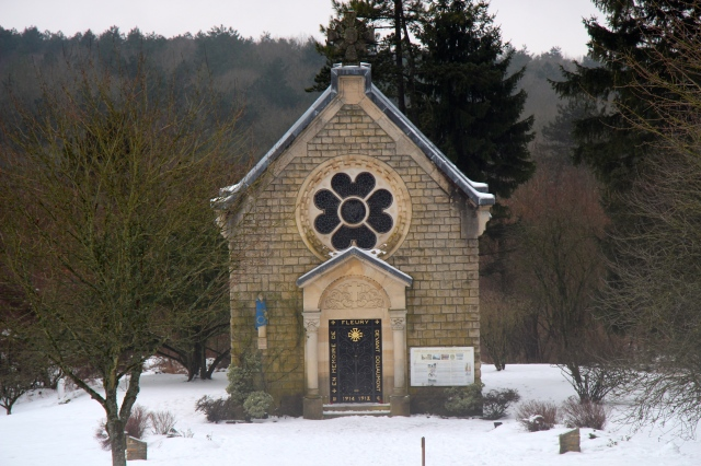 The Chapelle at Fleury-devant-Douaumont. It was built as a memorial to those who died fighting for France in this town.