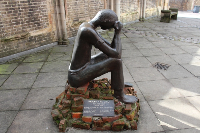 St. Nickolai Memorial - a really moving monument to the horror of war. It is located in a bombed out church, and has several sculptures in the entrance that I found to be thought provoking and haunting.