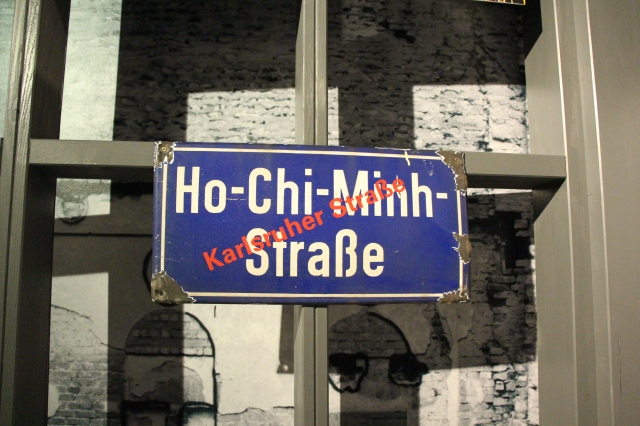 Seen at the Stasi museum, one of several streets that were renamed following the fall of communism.